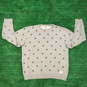Vans Crewneck Sweater Gray Size Large